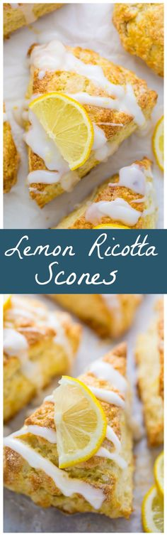 Crunchy and tender Lemon Ricotta Scones! Even my scone hating hubby loved these!