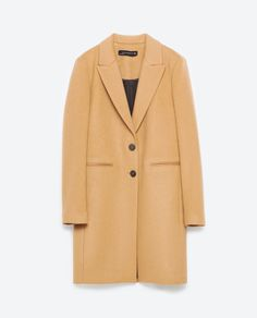 Image 8 uof MASCULINE COAT from Zara I like the camel color, no belt, below the knee length.