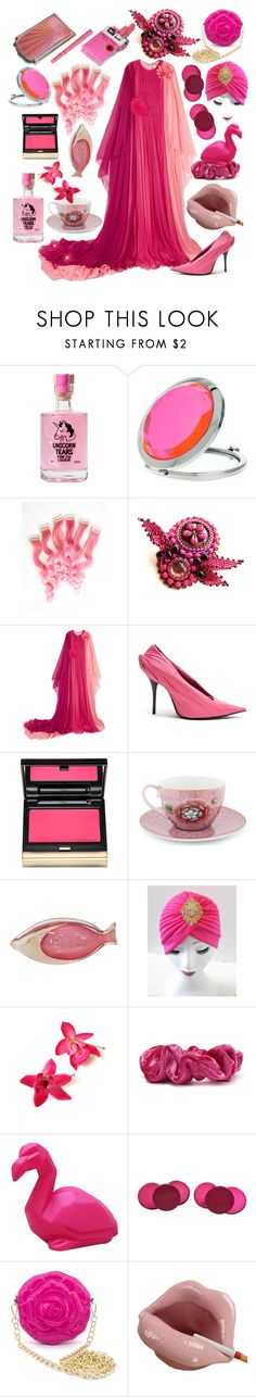 """Hot pink is a mindset."" by millarca ❤ liked on Polyvore featuring Miss Selfridge, Gucci, Balenciaga, Kevyn Aucoin, PiP Studio, Murano, Forever 21, Disaster Designs, Judith Hendler and Chanel"