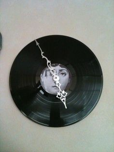 Clock made of an old LP