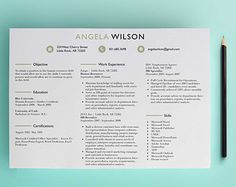 Horizontal HR Recruiter Resume Template /Cover Letter Template Professional Resume Instant Download - Resume Download - Clean, Beige/Black