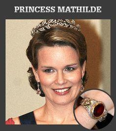 Princess Mathilde's engagement ring
