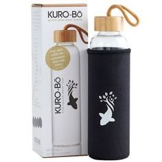 As with ourHUGELYpopular 1L Gō-Ecō Bottle, KURO-Bō'sreusable550ml Gō-Ecō Glass WaterBottle ishand-made from durable,high-quality borosilicate glass(pyrex) which ismuch stronger and lighterthan your standard glass. It comes with a sustainable bamboo lid, wrist strap, food-grade silicon leak-proof seal and an insulating and protecting neoprene sleeve. Contemporary and functional,each Gō-Ecō Glass Water Bottleisindividually hand-madeandreinforced, ensuring a lightweight,durable…