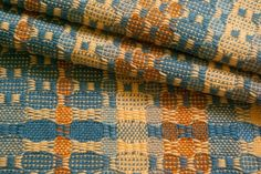 Add beauty, nourishment and sacredness to the tasks of daily life with one-of-a-kind handwoven cotton kitchen towels and table napkins from Whimsy . Weaving Textiles, Tapestry Weaving, Loom Weaving, Hand Weaving, Weaving Designs, Weaving Patterns, Yellow Towels, Distortion, Colour Schemes