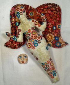SALE 10 in. Metallic Sensation ANGEL cloth art doll от arziehodge