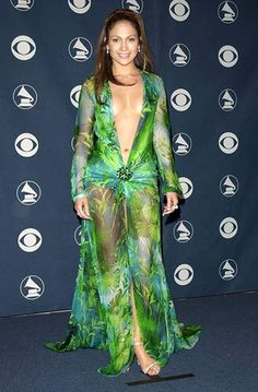 Jennifer Lopez famous Grammy redcarpet dress #2000