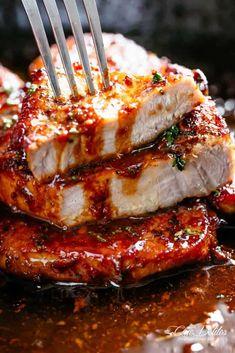 Easy Honey Garlic Chicken, Honey Garlic Pork Chops, Garlic Chicken Recipes, Baked Pork Chops, Easy Pork Chop Recipes, Pork Recipes, Crockpot Recipes, Family Recipes, Easy Recipes