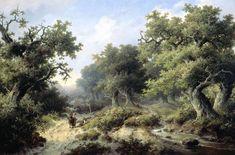 Boslandschap met reizigers, Jacob Cremer, 1849