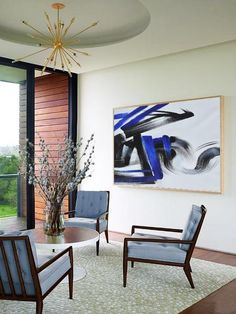 CZ Art Design-Hand painted Oversized Horizontal Minimal Painting, Blue canvas art. Minimalist Painting, Minimalist Art, Blue Canvas Art, Contemporary Paintings, Minimalism, Original Paintings, Abstract, Hand Painted, Interior