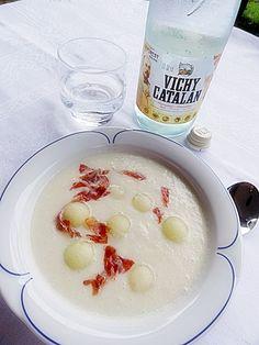 La crema de meló amb aigua termal de Caldes i encenalls de pernil ibèric