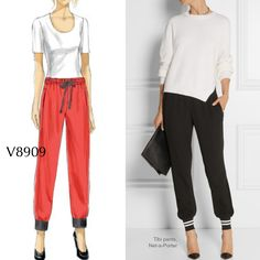 Vogue Patterns Sewing Pattern Misses' Elastic Waistband Pants Diy Sewing Projects, Sewing Hacks, Sewing Tips, Sewing Ideas, Sewing Clothes, Diy Clothes, Sewing Alterations, Vogue Sewing Patterns, Altering Clothes