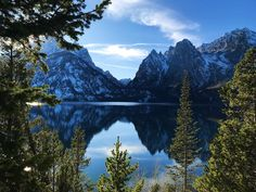 Jenny Lake is amazing at sunrise, sunset, or any time in between. Grand Teton National Park, National Parks, Sunrise, Wanderlust, Mountains, Landscape, Amazing, Pictures, Travel