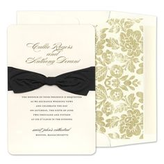 Belle Invitations by Checkerboard -- FineStationery.com