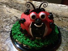 Ladybug cake perfect for themed birthdays and baby showers. Also great for your child's first birthday cake. This would be great for outdoor theme, camping, ladybug theme, flowers or floral, gardening and a bug theme