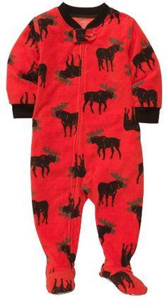 Carter's Boys 1-piece Micro-fleece Pajamas (2T, Moose Print)