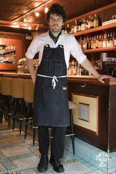 Carter & Sons is a brand with literal ties to the foundations of America. Restaurant Uniforms, Work Aprons, Apron Designs, Fasion, Women's Fashion, Barista, Sons, My Style, Uniform Ideas