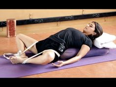 Iyengar Yoga for Menstruation and Period Cramps - YouTube