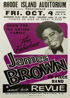 Globe Poster Printing Corp., The Fabulous James Brown,letterpress print