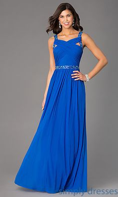 Floor Length Sleeveless Dress by Hailey Logan at SimplyDresses.com