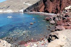Greece Beach, Red Beach at Santorini