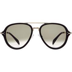 Céline Eyewear Oversize Sunglasses ($270) ❤ liked on Polyvore featuring accessories, eyewear, sunglasses, black, celine sunglasses, oversized sunglasses, oversized glasses, oversized eyewear and celine glasses