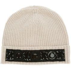 LANVIN Embellished beanie hat found on NUDEVOTION