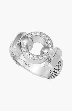 LAGOS 'Enso - Circle Game' Diamond Caviar Ring available at #Nordstrom