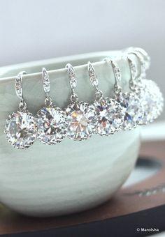 Bridesmaid earrings!