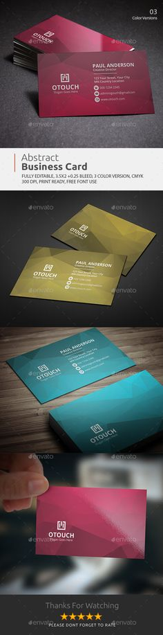 Business Card — Photoshop PSD #black #abstract • Available here → https://graphicriver.net/item/business-card/18016631?ref=pxcr