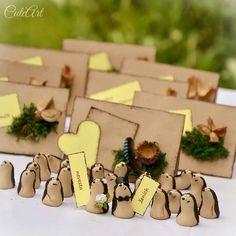 Cute hedgehog polymer clay wedding nametags... #polymer #hedgehog #wedding #nametag
