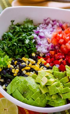 Healthy Creamy Mexican Kale Salad