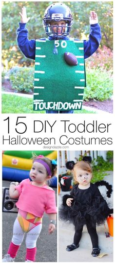15 of the best toddler Halloween costume ideas that are not only DIY but simple to make and comfy for your little one! Your kid will be the cutest out trick or treating!  || Design Dazzle