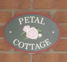 Petal Cottage House Sign | Danthonia Designs