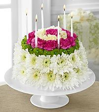 The FTD® Wonderful Wishes™ Floral Cake - CAKE PLATE INCLUDED