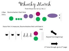 Whacky March for Boomwhackers from Music K-8