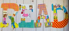 Read Letters, Big Letters, Letter Set, Letter Wall, Painting Wooden Letters, Character Letters, Storybook Characters, Book Lovers Gifts, Teacher Gifts