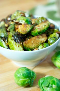 Honey Balsamic Pan Seared Brussels Sprouts - Eazy Peazy Mealz