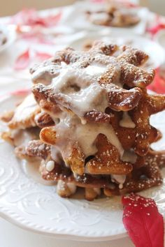 Carrot Cake Waffles with Brown Butter Cinnamon Vanilla Glaze – SIMPLY BEAUTIFUL EATING