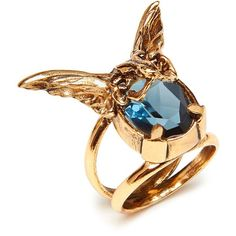 Mulberry Bat Ring ($260) ❤ liked on Polyvore featuring jewelry, rings, vintage charm, vintage jewelry, vintage rings, vintage jewellery and charm jewelry