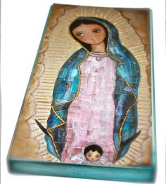 Our Lady of Guadalupe with Angel   Giclee print by FlorLarios, $30.00