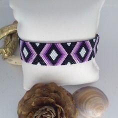 Bracelet tissage peyote en miyuki delicas