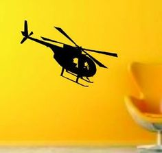 Helicopter Version 102 Decal Sticker Wall Decal by PerfectPeacocks, $24.00