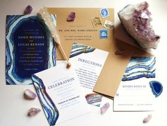 Be the jewel of the ball with a gilt agate inspired wedding invitation suite from Minted. Wedding Invitation Inspiration, Simple Wedding Invitations, Wedding Invitation Suite, Invitation Design, Wedding Inspiration, Design Inspiration, Wedding 2015, Blue Wedding, Wedding Trends