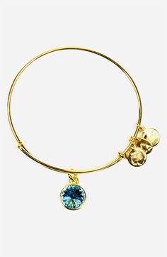 Alex and Ani Birthstone Expandable Wire Bangle | Nordstrom. March for Claire and June for Graham!