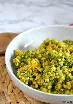 Bloemkoolrijst met broccoli kip en kokosmelk - Enjoyyourownbeauty.nl Guacamole, Paleo, Low Carb, Menu, Mexican, Healthy Recipes, Cooking, Ethnic Recipes, Night Shift