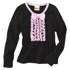 Harajuku Mini for Target® Toddler Girls' Tuxedo Tee - Black $13.00