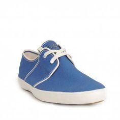Paul Smith Shoes Mens Blue Cloud Washed Canvas Pumps