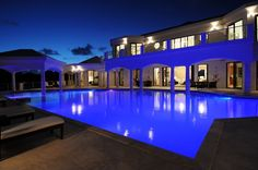 Luxury.homeaway.com Anguilla   One can dream!   Floodlights by Night - Romantic!