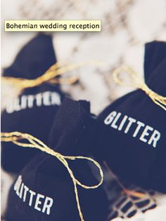 Throwing glitter