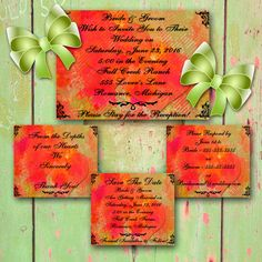 PRINTABLE WEDDING INVITATION Design with Fall by ChangingArtitudes